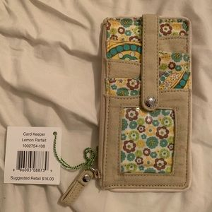 Vera Bradley NWT Card Keeper in Lemon Parfait